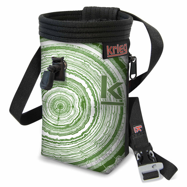Krieg Tree Rings Green Climbing Chalk Bag