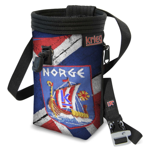 Viking Norway Flag Climbing Chalk Bag Krieg