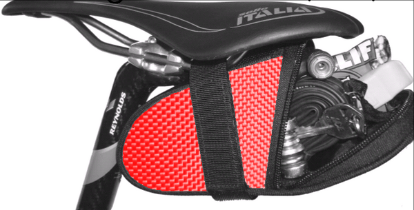 Red Ballistic Saddle Bag Seat Wedge