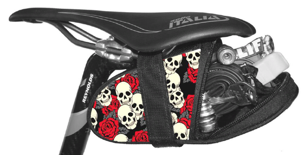 Skull and Rose Seat Wedge Seat Bag Krieg Cycling