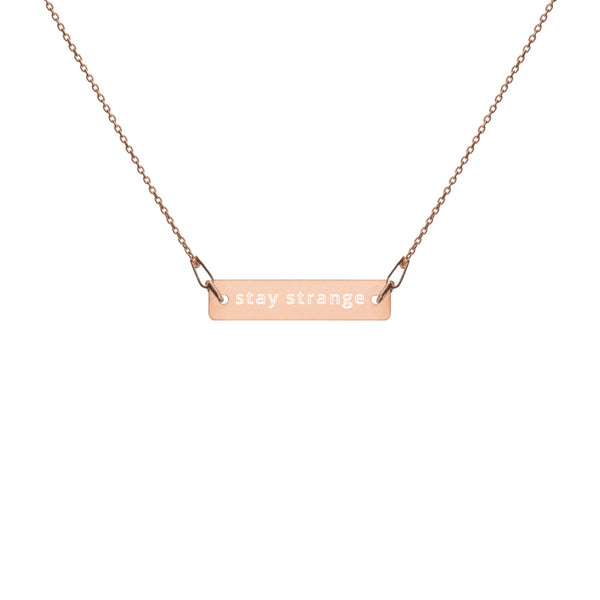 Stay Strange Bar Chain Necklace