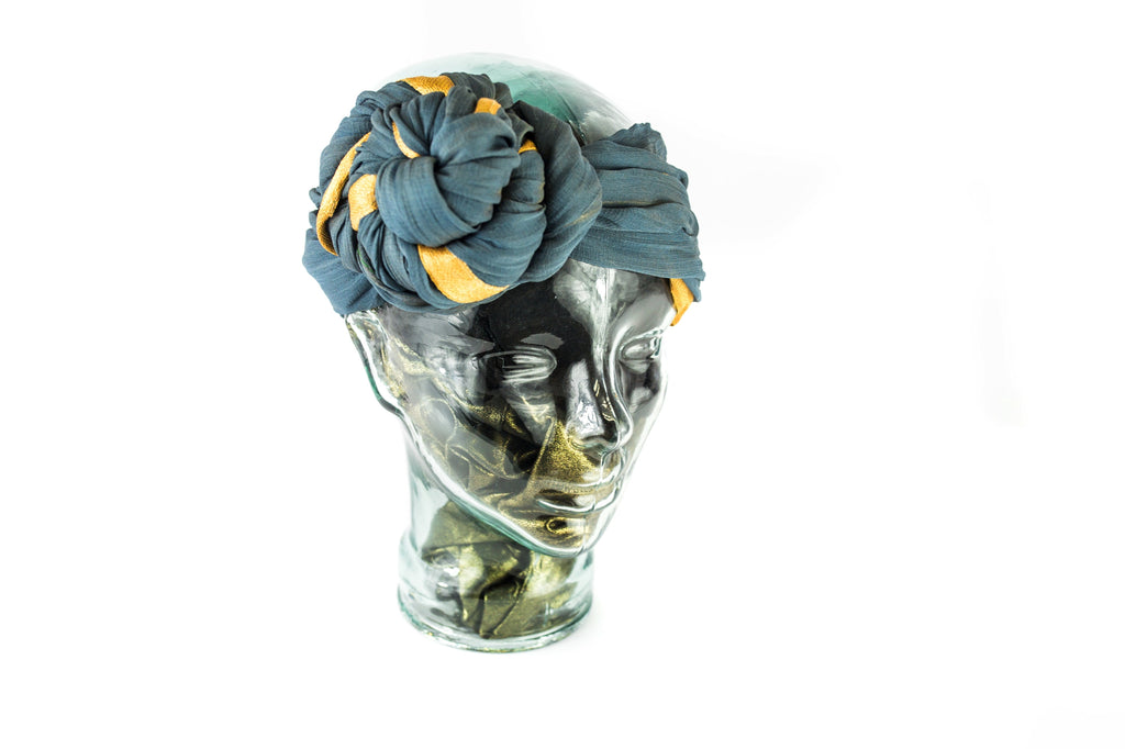 GELE HEADWRAP DUSTY BLUE