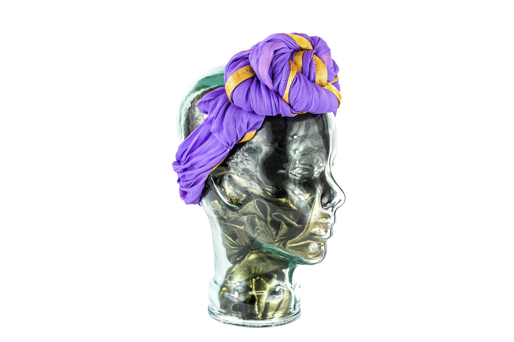 GELE HEADWRAP PURPLE
