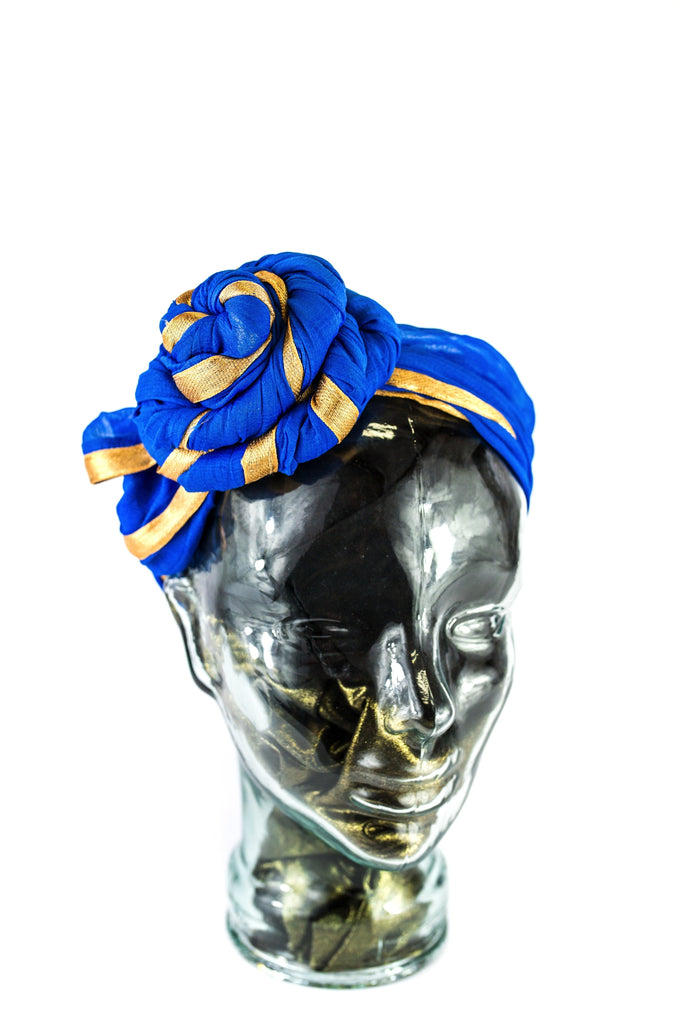 GELE HEADWRAP ROYAL BLUE