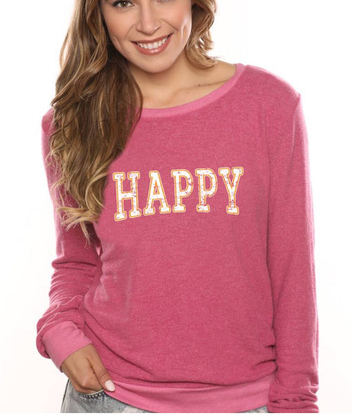 Happy Sweatshirt - The Green Shelf Boutique