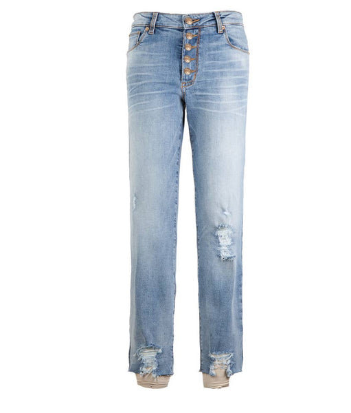Caroline HR Button Fly Jean