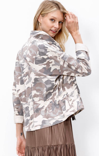 Camo Jacket - The Green Shelf Boutique
