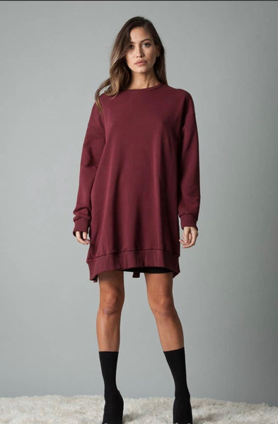 Open Back Sweatshirt - The Green Shelf Boutique