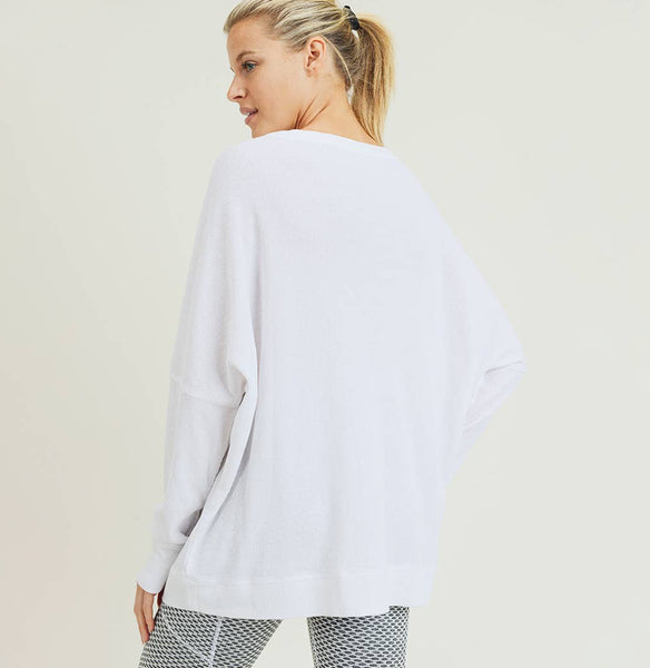 Waffle Knit Pullover - The Green Shelf Boutique