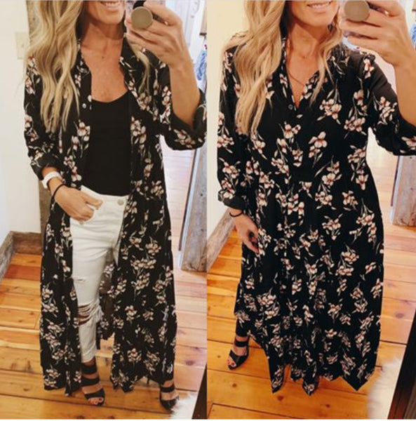Floral Print Maxi Dress - The Green Shelf Boutique