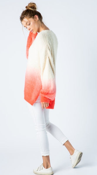 Dip Dye Oversized Sweater - The Green Shelf Boutique
