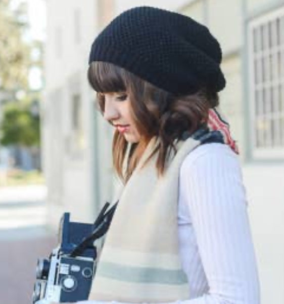Waffle Knit Beanie - The Green Shelf Boutique