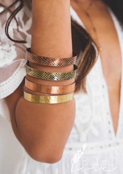 Metal Stacked Cuff - The Green Shelf Boutique