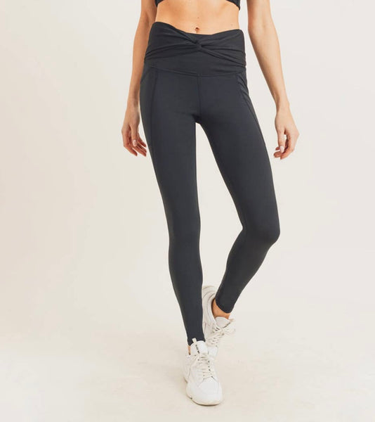 Twist Front HW Leggings