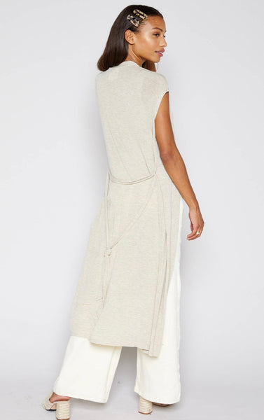 Drop Shoulder Knit Duster - The Green Shelf Boutique