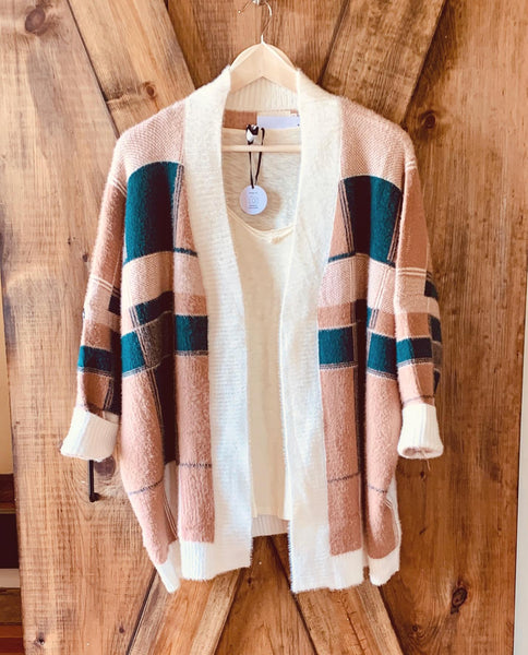 Colorblock Cardi - The Green Shelf Boutique
