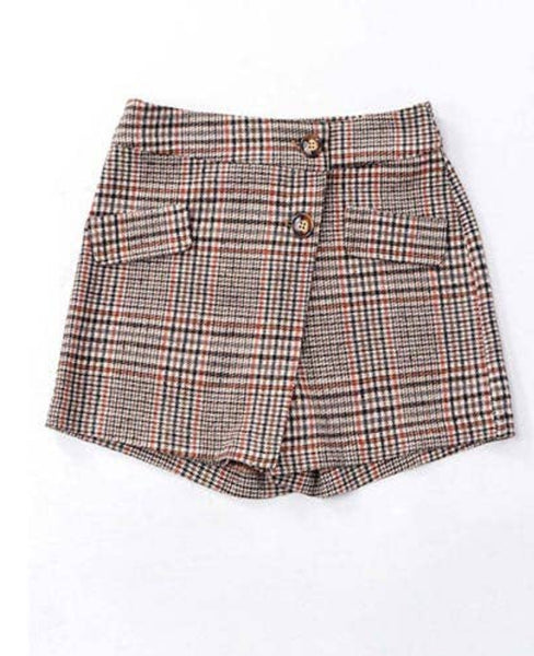 Plaid Skort - The Green Shelf Boutique