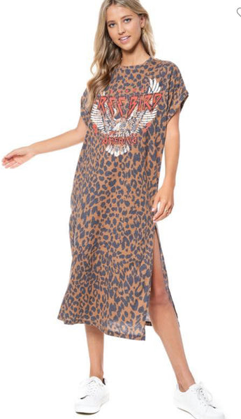 Free bird Graphic Maxi