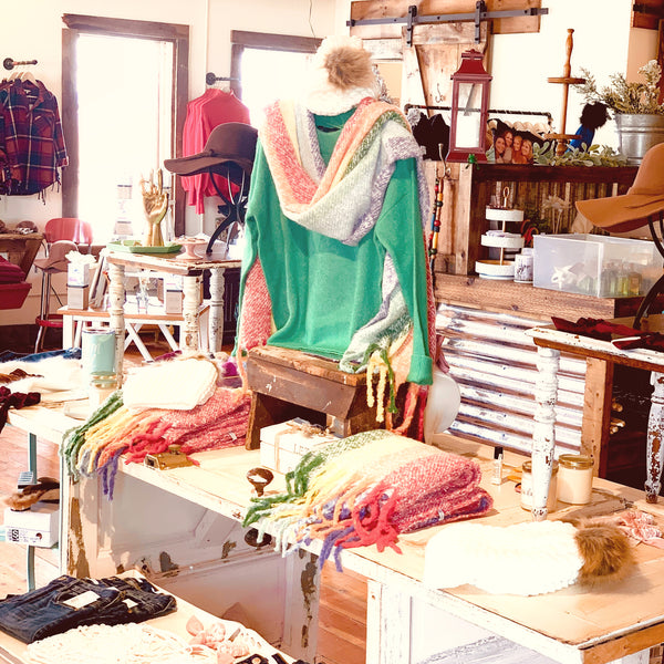 Rainbow Scarf - The Green Shelf Boutique