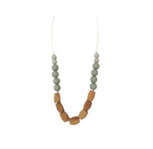 Teething Necklace- Succulent - The Green Shelf Boutique