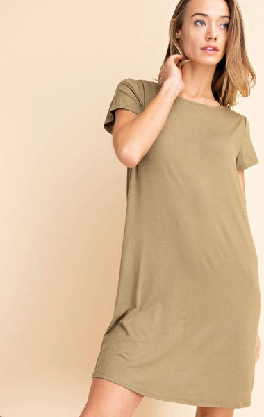 Tee Shirt Dress - The Green Shelf Boutique