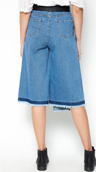 Denim Culottes - The Green Shelf Boutique
