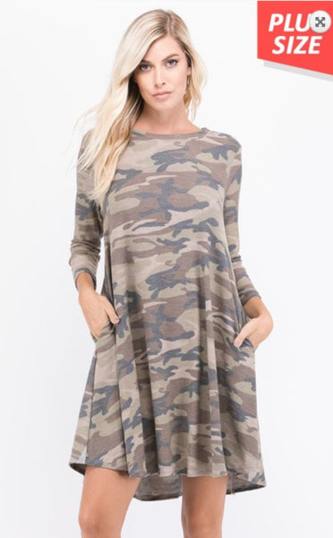 Plus Size Camo Dress