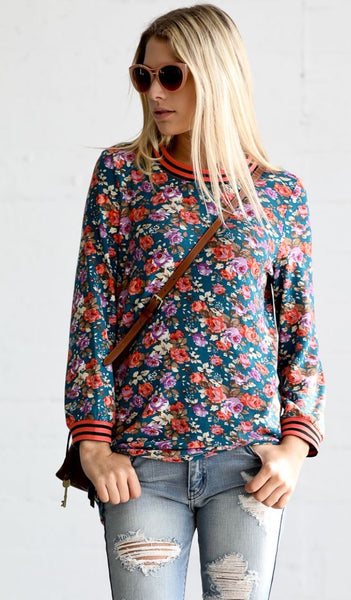 Floral Tee - The Green Shelf Boutique