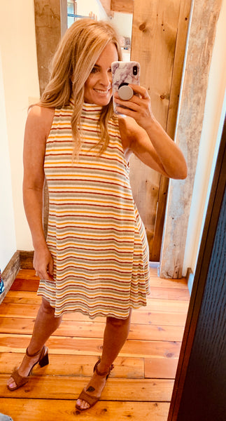 Sleeveless Stripe Dress