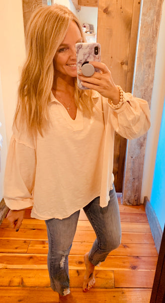 Mineral Washed Oversized Top