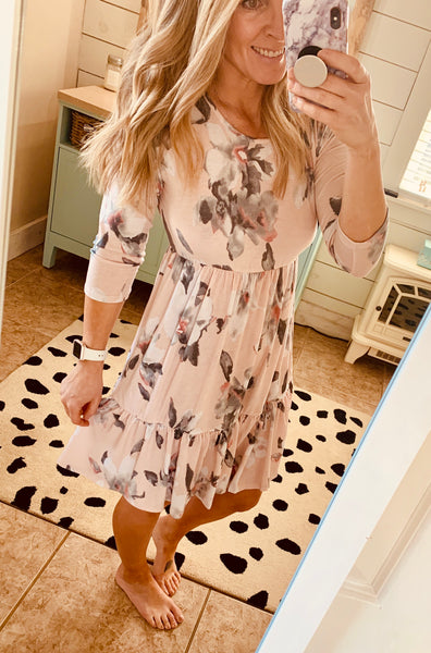Spring Floral Dress - The Green Shelf Boutique