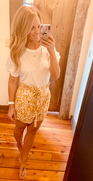 High Waisted Paper Bag Shorts. - The Green Shelf Boutique
