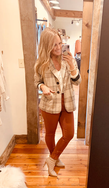 Rouge Plaid Blazer