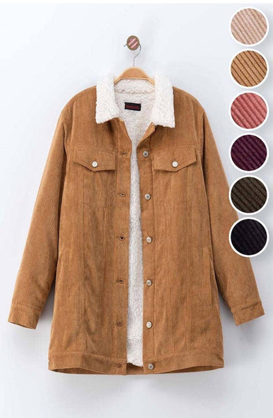 Corduroy Coat - The Green Shelf Boutique