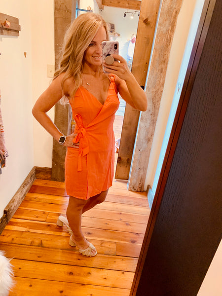 Sun Kissed Wrap Dress