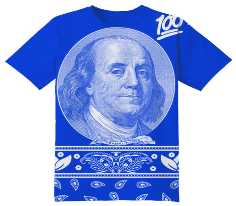 Blue Ben Frankin 100 - OFFICIAL ShirtJunky™ - All Over Print Apparel