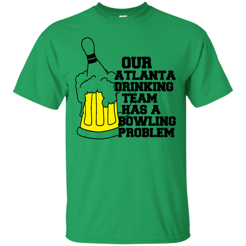 "Image of Atlanta Drinking Team ""Bowling"" Problem T-Shirt"