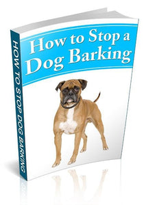 How To Stop A Dog Barking eBook