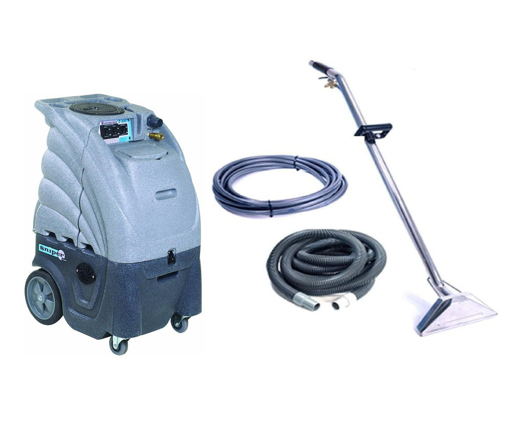 Sandia Extractor Hot and Cold Water Carpet Cleaner, 80-2100-H Dual 2 Stage  Vacuum Motor with a Commercial Sniper Industrial Product Bundle