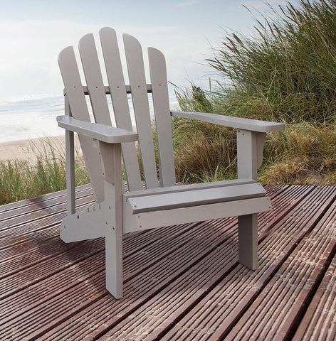 Shine Company Westport Adirondack Chair, Taupe Gray by Shine Company