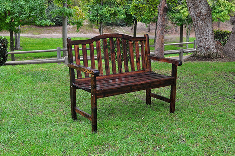 Shine Company Belfort Garden Bench, Burnt Brown by Shine Company Inc.