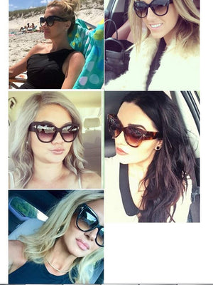 Gradient Point Sun Glasses For Women