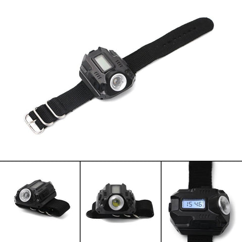 New Portable LED Wrist Watch Flashlight - USB Rechargeable