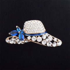 Hat Shape Rhinestone Brooch For Women