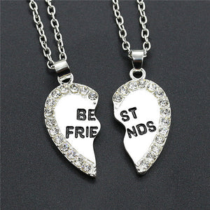 Friend-Friendship Heart Necklace 2pc - Allrate Shopping
