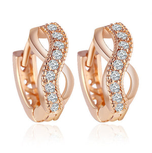Gold Plated Crystal Earrings For Women