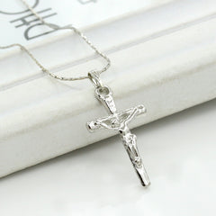 Simple Little Cross Pendant Clavicle Chain Necklace