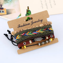 Handmade Multi-Layer Woven Leather Bracelet