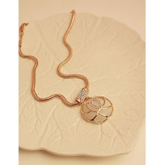Moonstone Rose Short Sweater Chain Necklace For Women