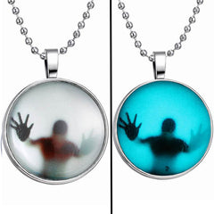 Glow in the Dark Steampunk Necklace - Allrate Shopping